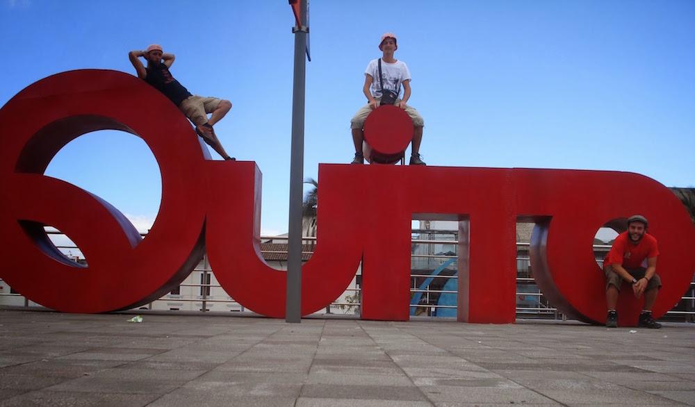 team cochonou à Quito Equateur