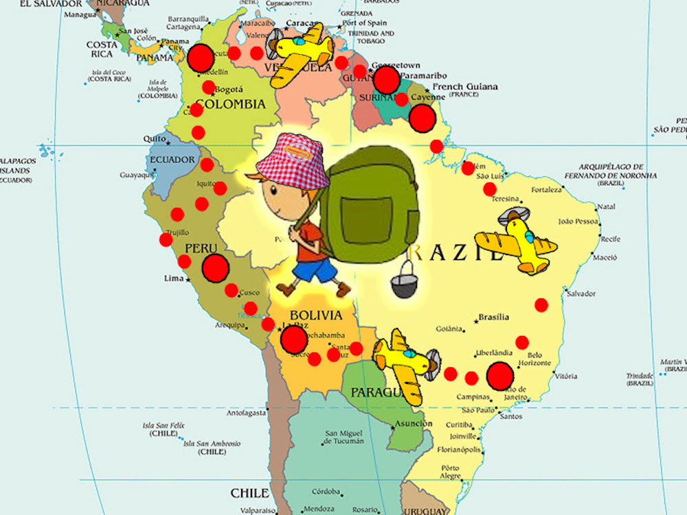 Fabuleux A un mois du départ : notre itinéraire en Amérique du Sud RT28