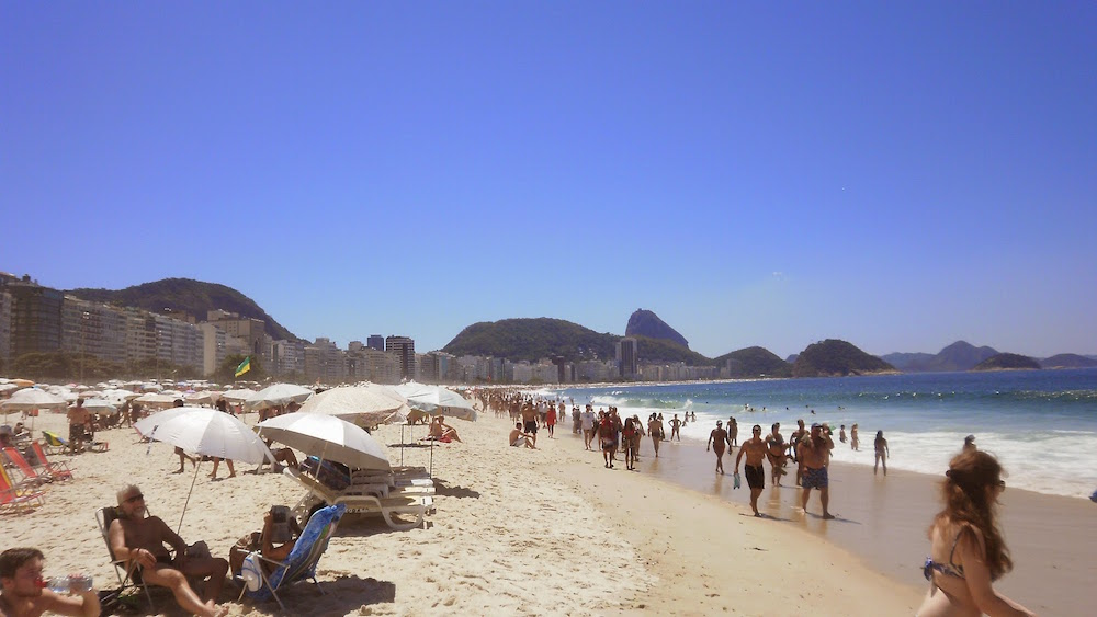 plage copacabana longueur rio