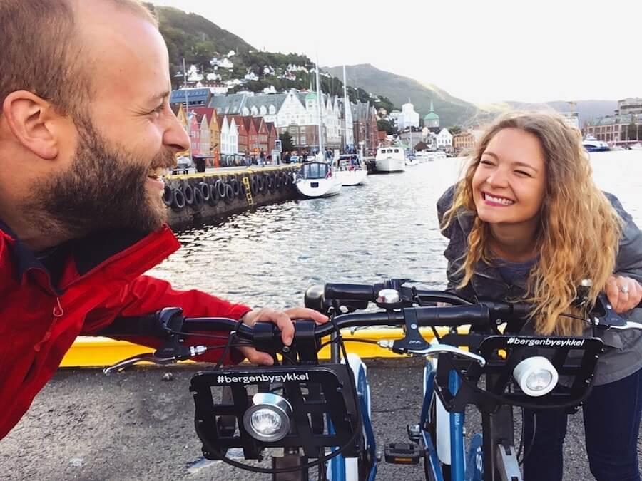 Bergen: promenade à vélo, randonnée au mont Ulriken et tyrolienne au dessus de la ville