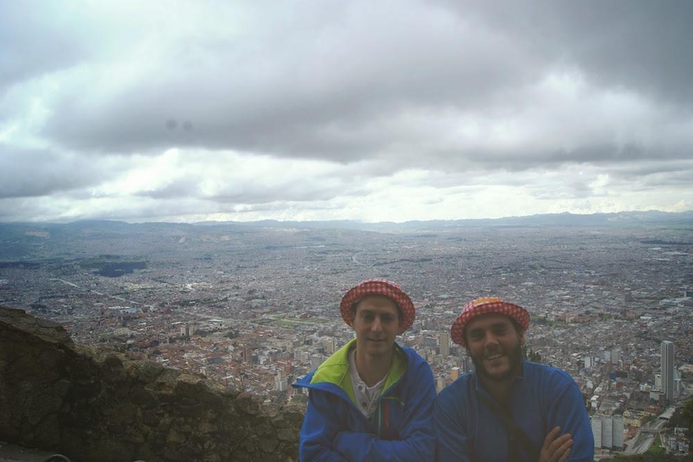 Vue du montserrate Bogota Colombie