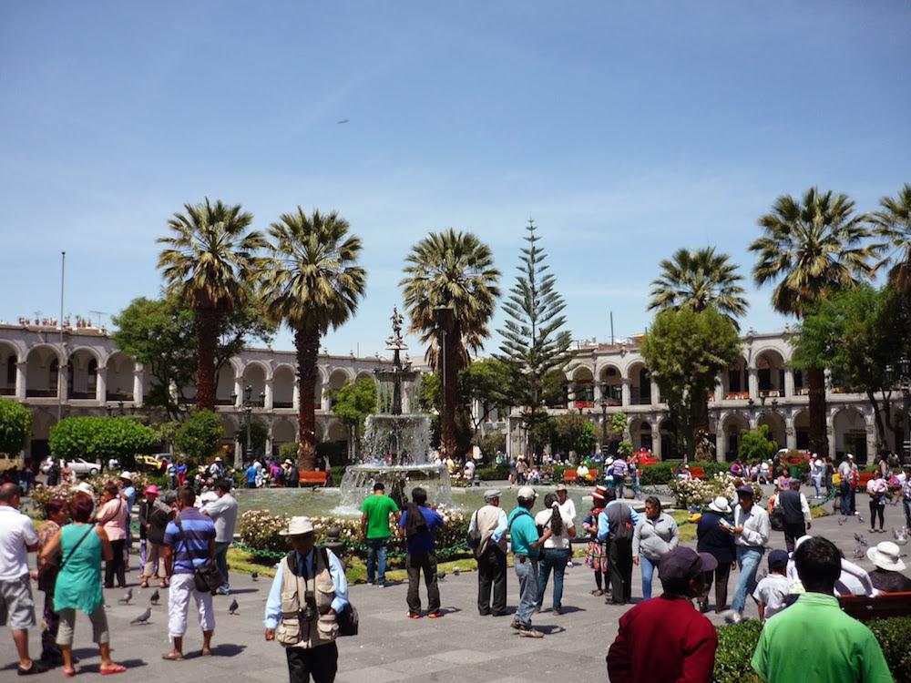 Piazza das armas Arequipa Pérou