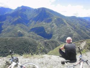 pause route de la mort Bolivie