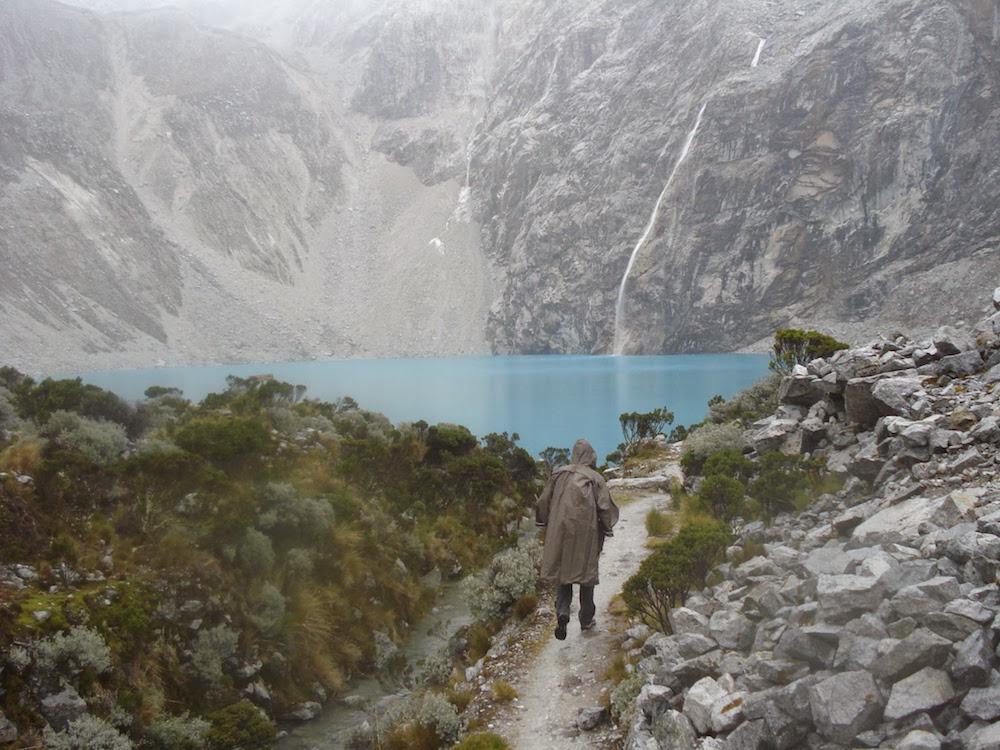 arrivée à la laguna 69 lors d'un trek au Pérou