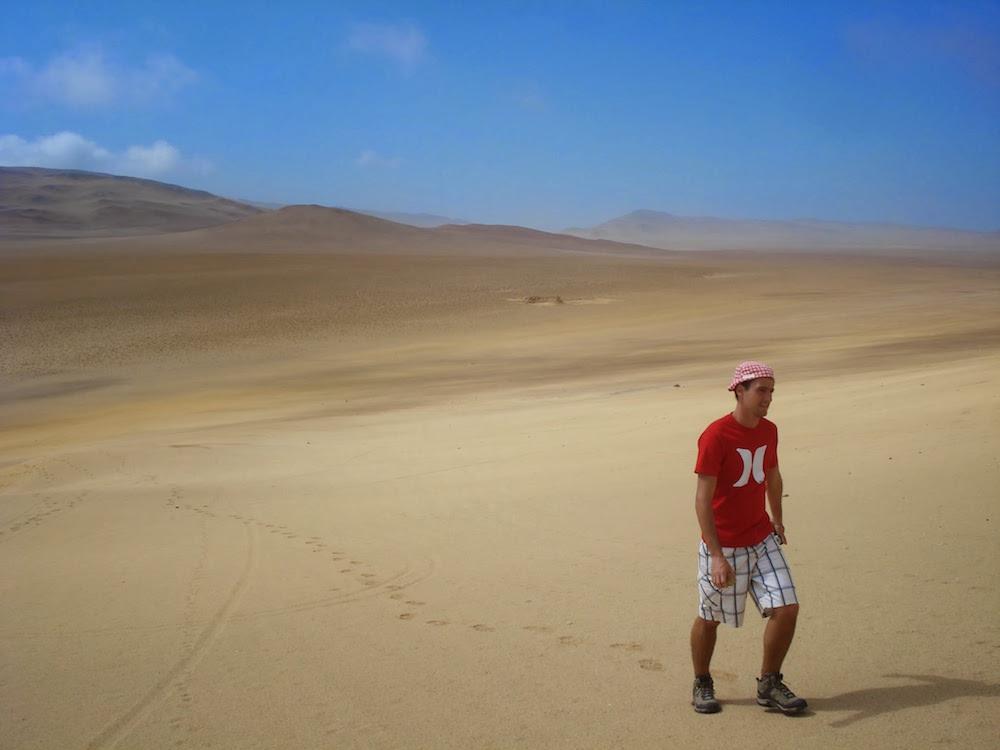 cochonou tintin désert de paracas dune Pérou