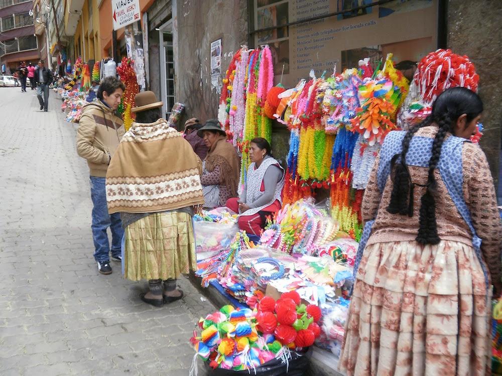 vendeuses carnaval la paz en bolivie