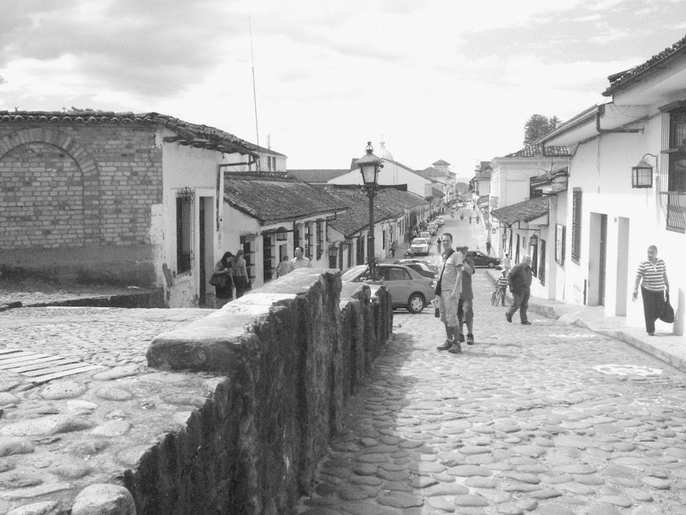 rue pavée coloniale Popayan Colombie