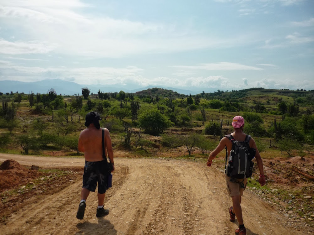 randonnée dans le désert en Colombie