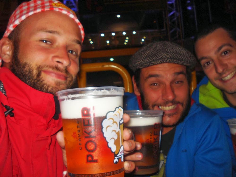 soirée bière poker aux fériés de Manizales Colombie