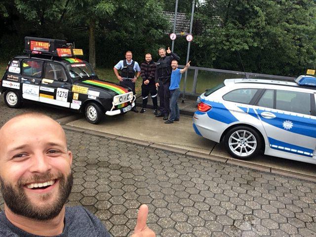 rencontre avec la police allemande