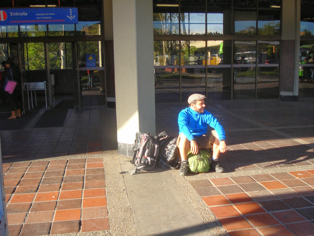 attente gare routière de Medellin