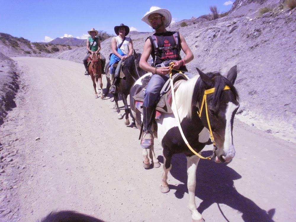 Balade à cheval en bolivie desert tupiza