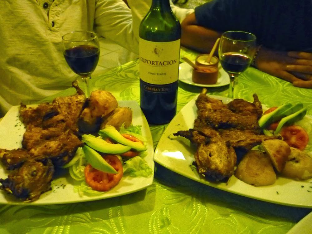 cochon d'onde au vin rouge - spécialités culinaires du Pérou