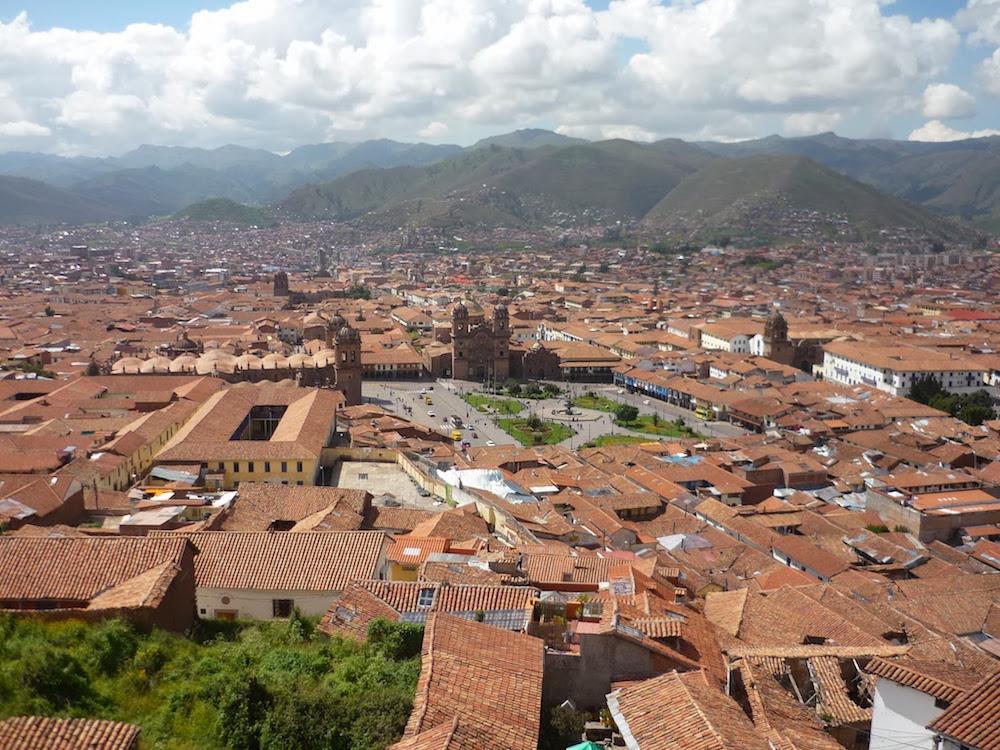 vue de cuzco depuis église San Cristobal