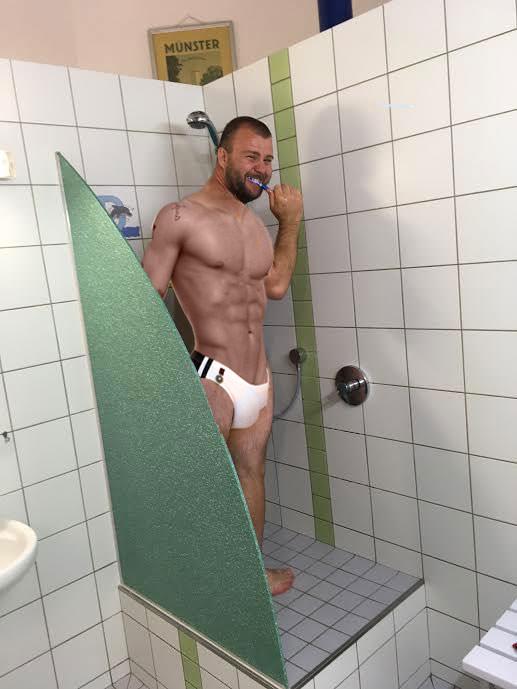 douche pour enfant au camping de munster