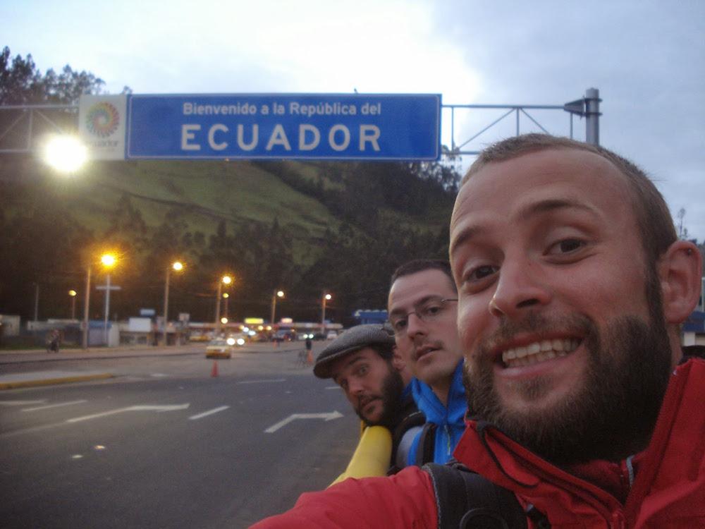 frontière Equateur colombie à pied
