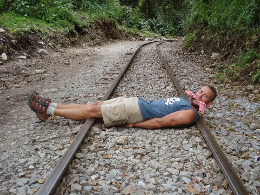 rails de chemin de fer cochonou Pérou