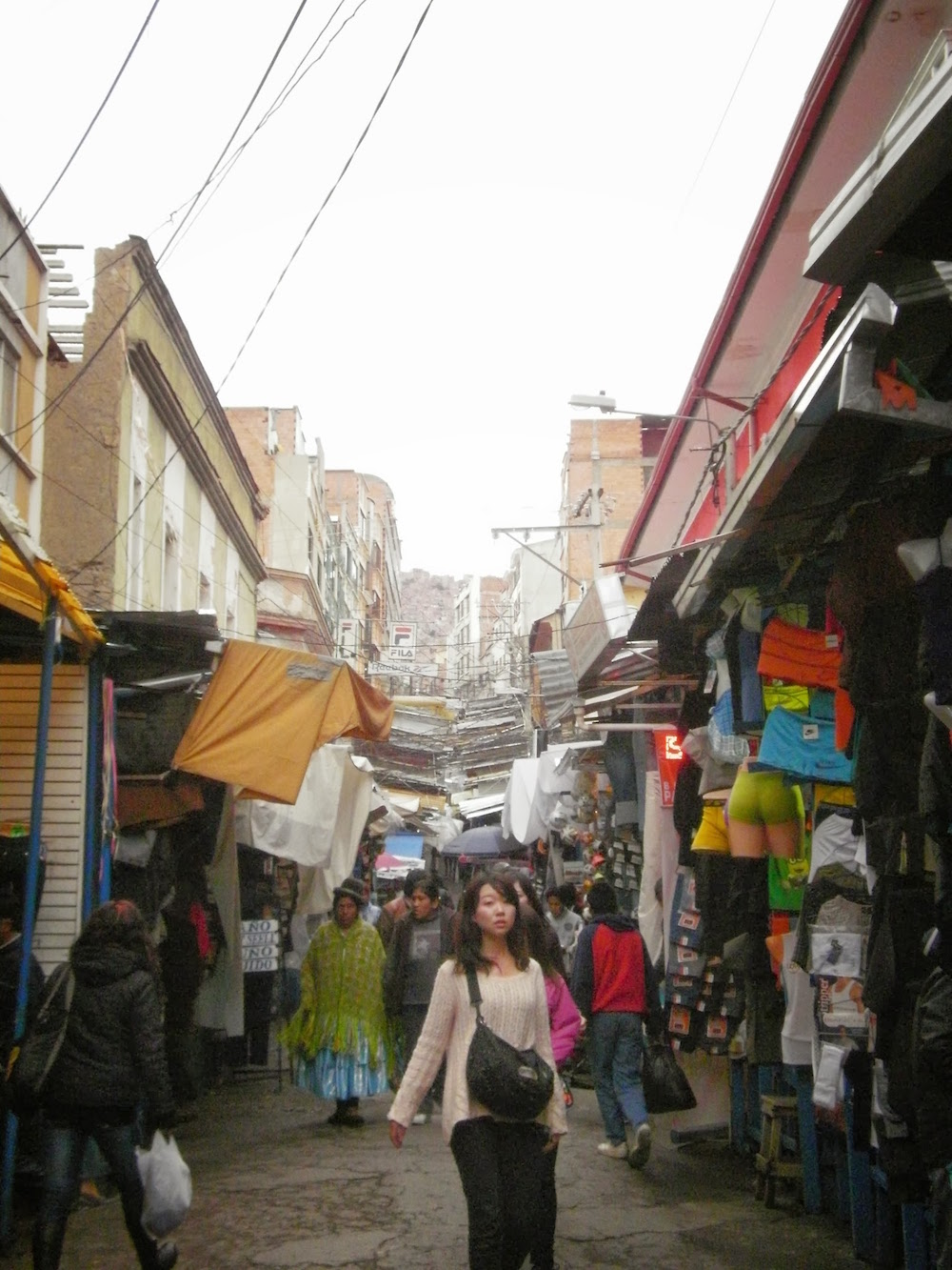 rues commercantes la paz en bolivie