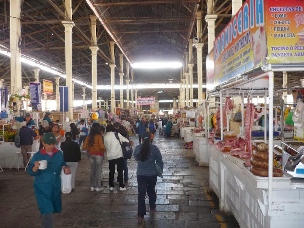 Marché san Pedro Cuzco Pérou