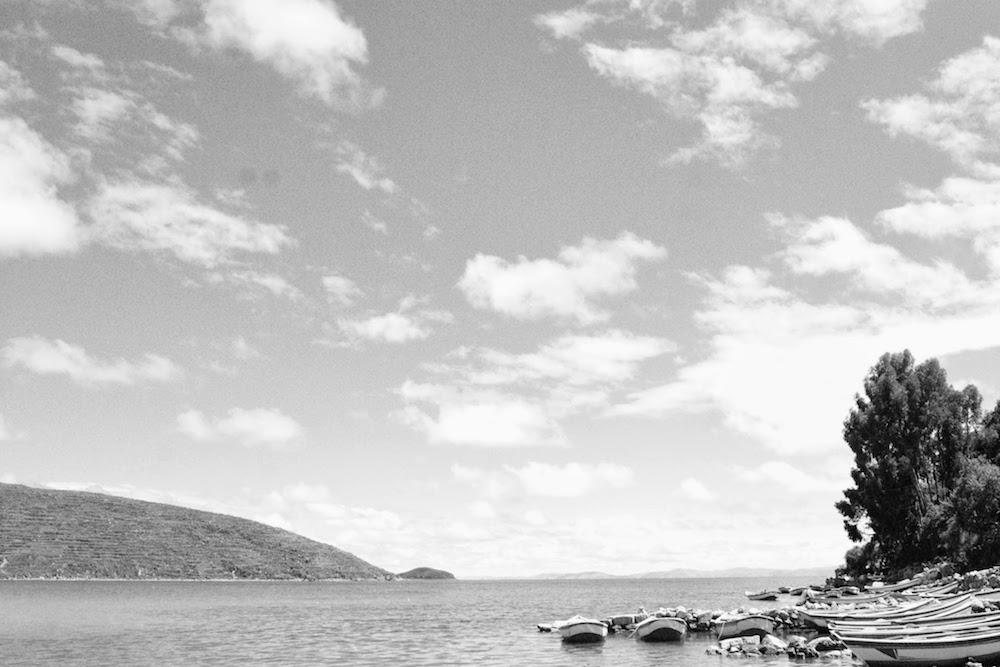 barques de pêche lac titi caca bolivie