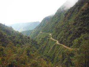 portion route de la mort en bolivie