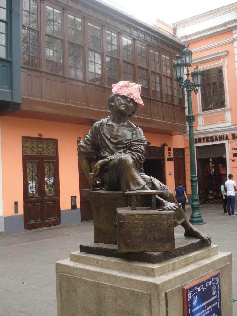 statue cireur de chaussures Lima Pérou