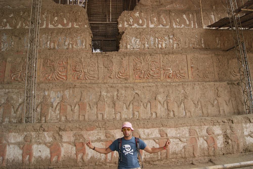 fresque moche chyme dans le temps huaca de la luna - moche