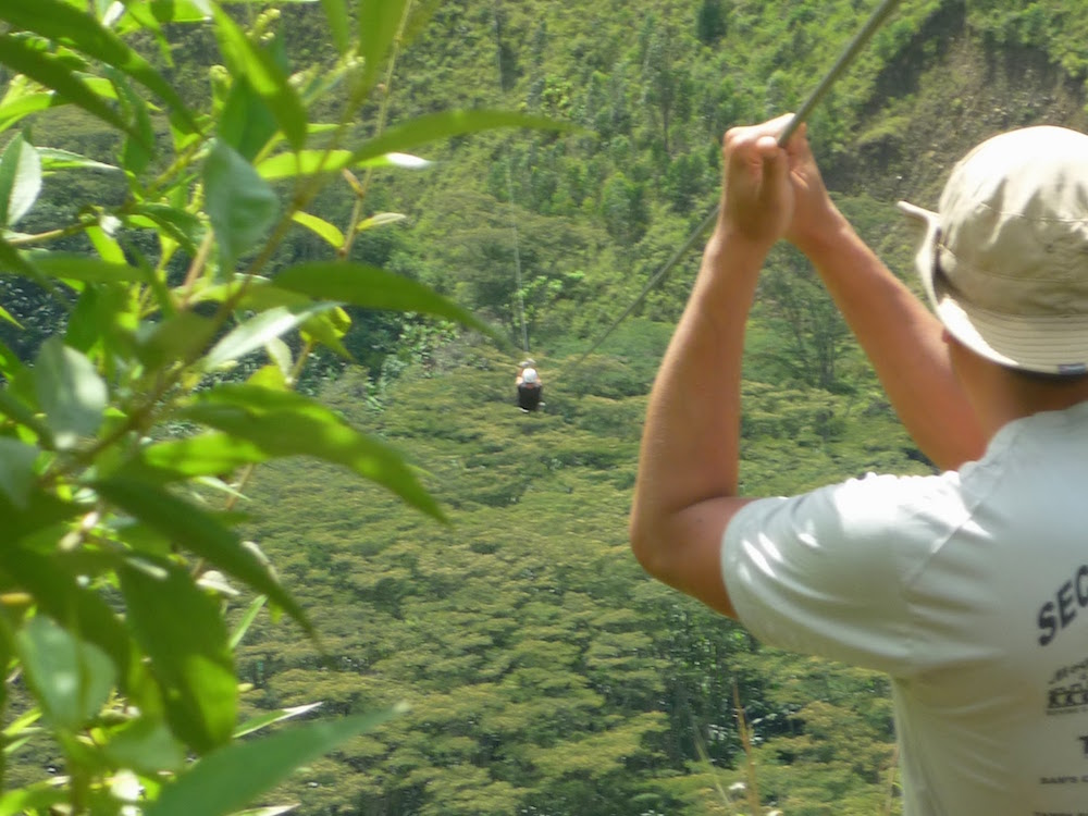 tyrolienne santa théresa Pérou inca jungle