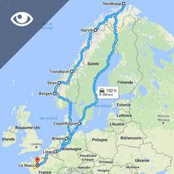 Road trip Norvège-Suède cercle polaire en renault 4L
